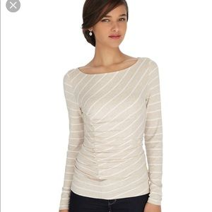 Long sleeved WHBM ruched top